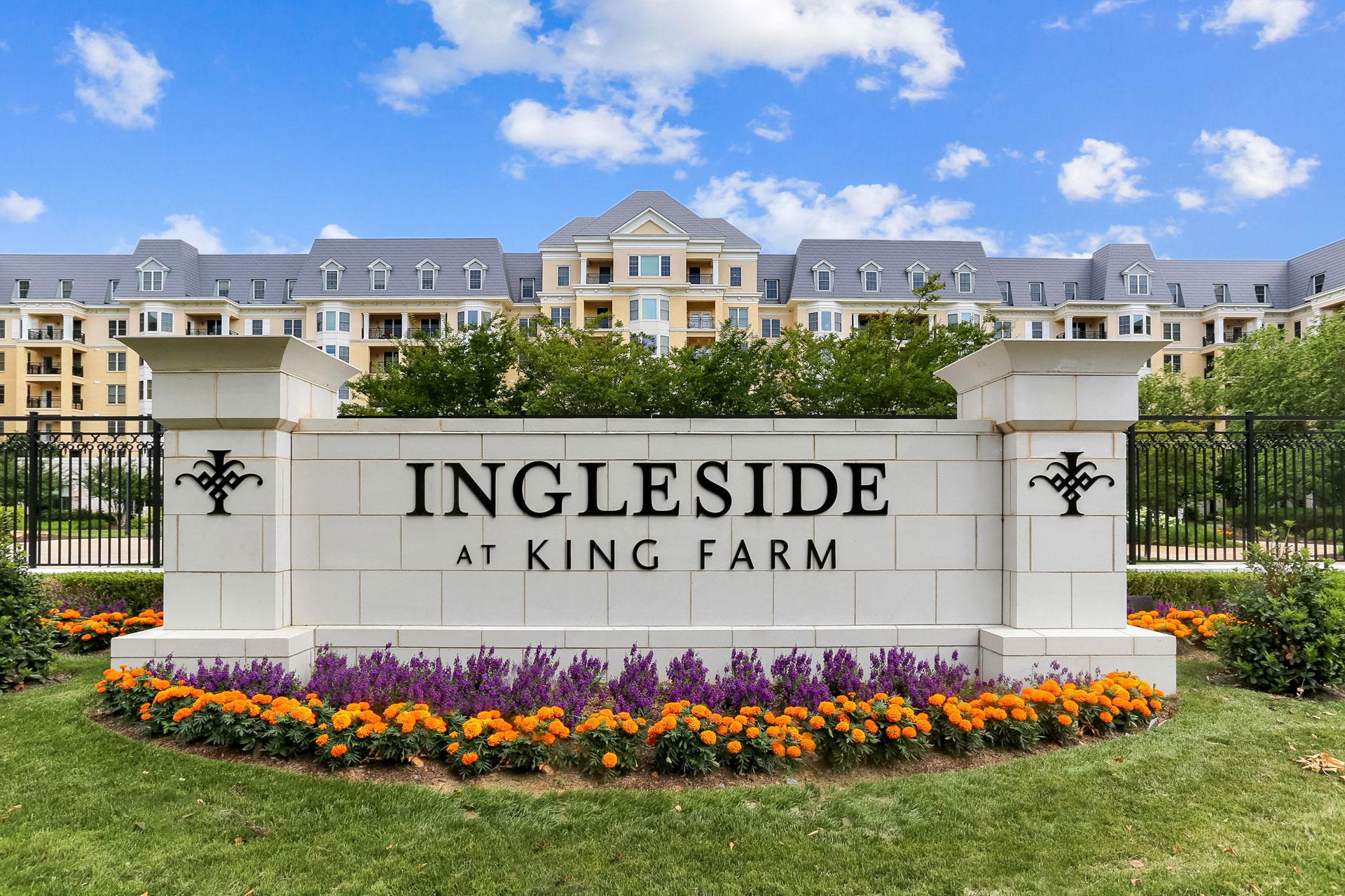 Ingleside at King Farm signage