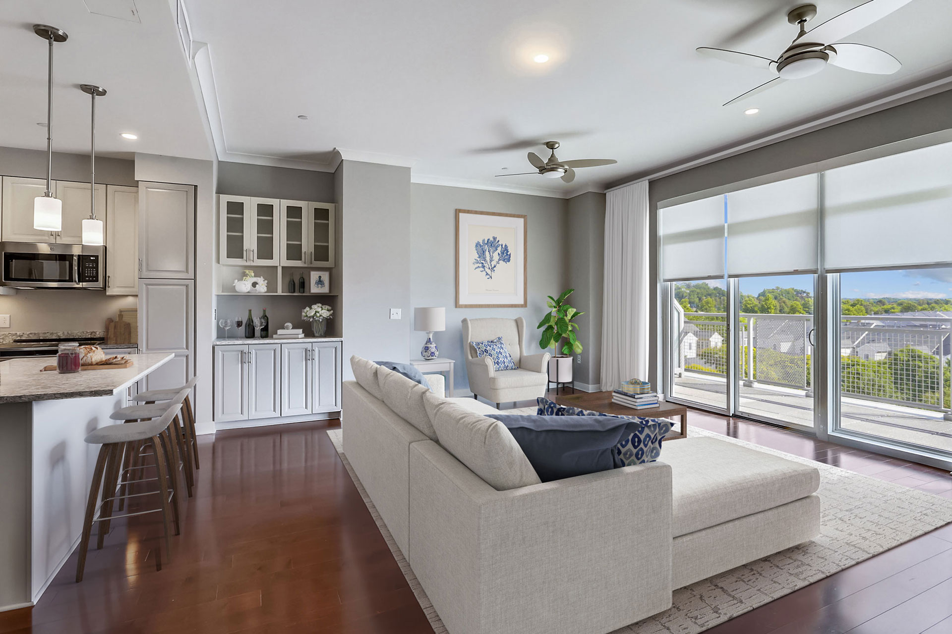 modern apartment view